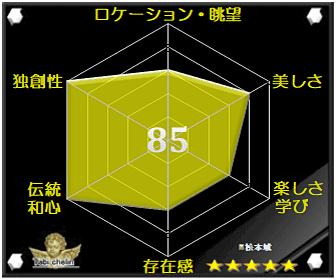 松本城の評価グラフです