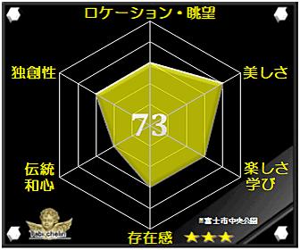 富士市中央公園の評価グラフです